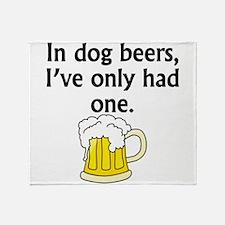 In Dog Beers Throw Blanket