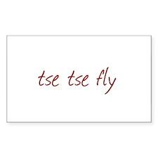 Tse Tse Fly Rectangle Decal