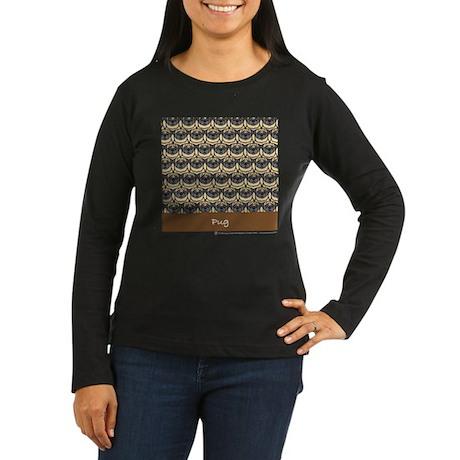 Passel of Pugs Women's Long Sleeve Dark T-Shirt