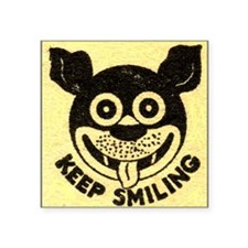 "SMILE Square Sticker 3"" x 3"""