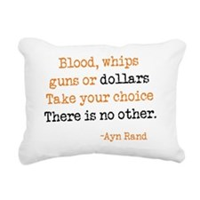 guns.dollars Rectangular Canvas Pillow