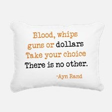 guns.dollars Rectangular Canvas Pillow