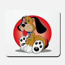 Autism-Dog-blk Mousepad