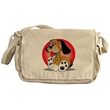 Autism-Dog-blk Messenger Bag