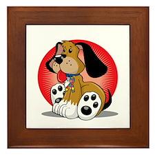 Autism-Dog-blk Framed Tile