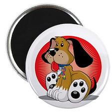 Autism-Dog-blk Magnet