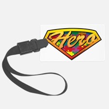 Autism-SuperHero-blk Luggage Tag