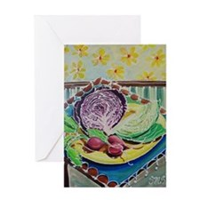 #4 of KITCHEN Bright Acrylic Paintin Greeting Card