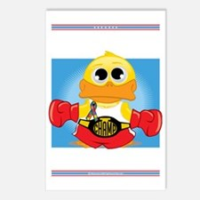Knock-Out-Autism-BLK Postcards (Package of 8)