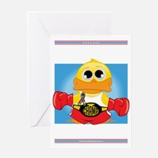 Knock-Out-Autism-BLK Greeting Card
