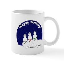 Martial Arts Snowmen Mugs