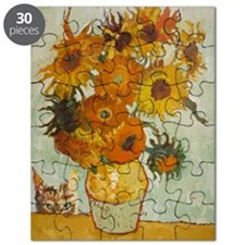 Vincent with Sunflowers - Puzzle