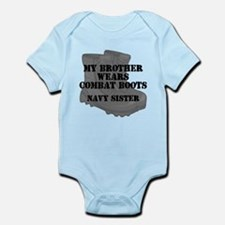 Navy Sister Brother Combat Boots Body Suit
