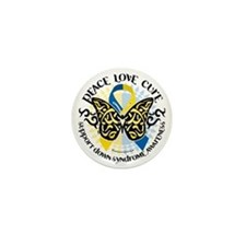 Down-Syndrome-Butterfly-Tribal-2 Mini Button