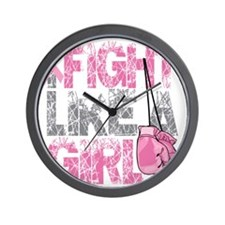BC-Fight-Like-A-Girl-2 Wall Clock