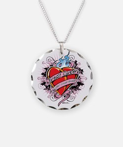 Breast-Cancer-Tattoo-Heart Necklace