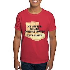 Navy Sister Desert Combat Boots T-Shirt