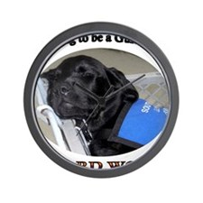 Training to be a Guide Dog Wall Clock