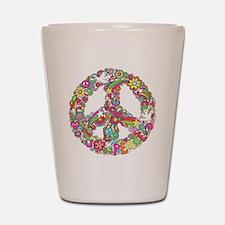 Peace & Love Shot Glass
