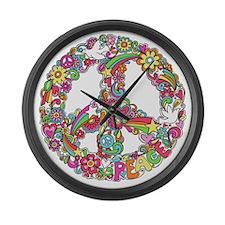 Peace & Love Large Wall Clock