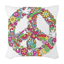 Peace & Love Woven Throw Pillow