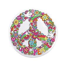 "Peace & Love 3.5"" Button"