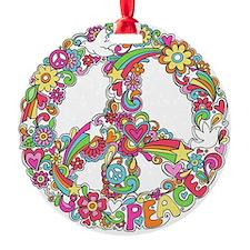 Peace & Love Ornament