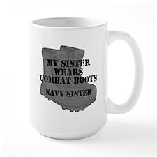 Navy Sister Combat Boots Mugs