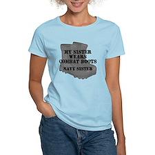 Navy Sister Combat Boots T-Shirt