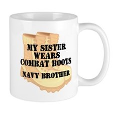 Navy Brother Sister Desert Combat Boots Mugs
