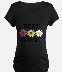 BEST GRAMMY WITH FLOWERS Maternity T-Shirt