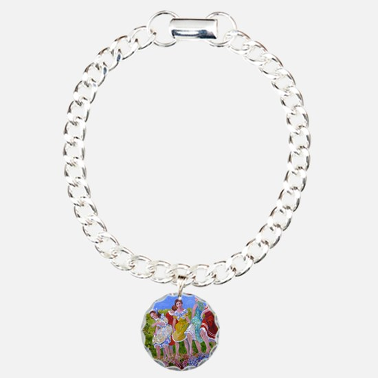 womestomp2 Charm Bracelet, One Charm