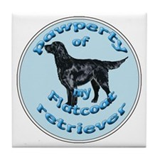 papwperty of flatcoat Tile Coaster