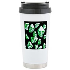 crazy skulls green Travel Mug