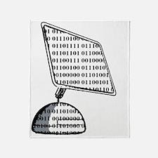 iMac Binary Large Throw Blanket