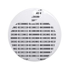 Apple Binary Large Round Ornament