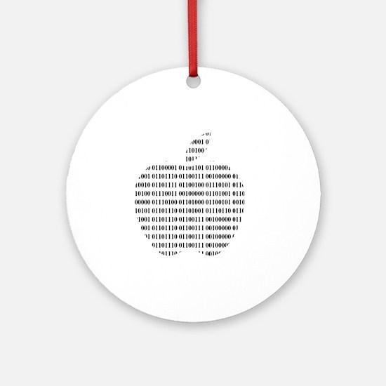 Apple Binary Large Round Ornament
