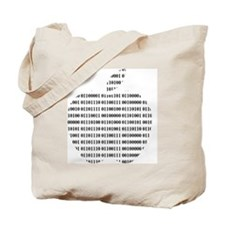 Apple Binary Large Tote Bag