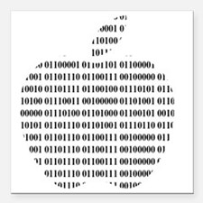 "Apple Binary Large Square Car Magnet 3"" x 3"""
