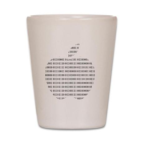 Apple Binary Large Shot Glass