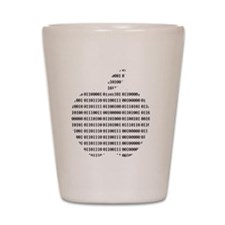 Apple Binary Large Shot Glass