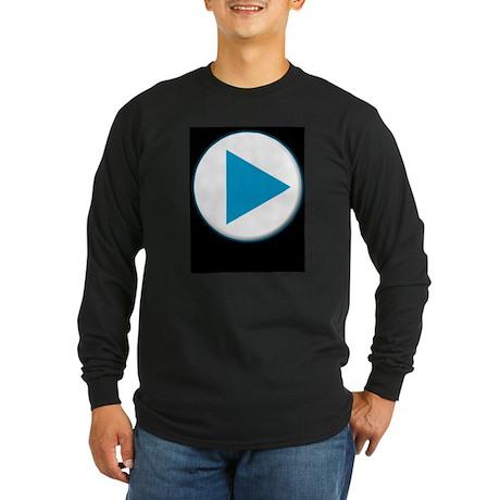 Video Player Long Sleeve Dark T-Shirt