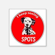 """Dalmatian Spots Square Sticker 3"""" x 3"""""""