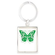 Organ-Donor-Butterfly-blk Portrait Keychain