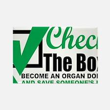 Organ-Donor-Check-the-Box Rectangle Magnet
