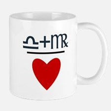 Libra + Virgo = Love Mug
