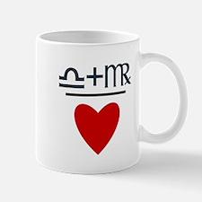 Libra + Virgo = Love Small Mugs