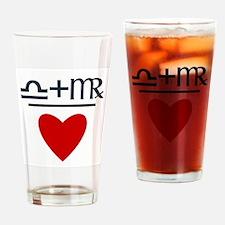 Libra + Virgo = Love Drinking Glass