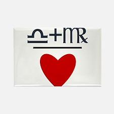 Libra + Virgo = Love Rectangle Magnet