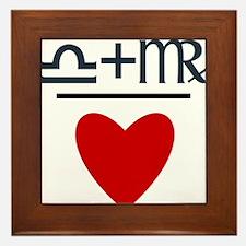 Libra + Virgo = Love Framed Tile